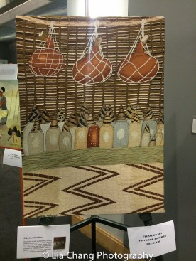 """Art by Rwandan Artists on display at the """"Celebrate Rwanda"""" event at The SUNY Global Center in New York on June 29, 2016. Photo by Lia Chang"""