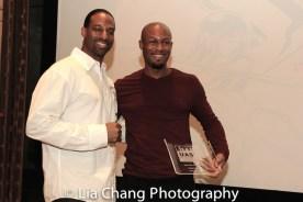 Demetrius Angelo and Phoenix Award honoree Emmanuel Brown at the UAS IAFF Awards at HBO in New York on November 11, 2016. Photo by Lia Chang