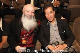 Historian Ric Meyers and Peter Kwong at the Cinemax® VIP Welcome Red Carpet Reception and UAS IAFF Awards at HBO in New York on November 11, 2016. Photo by Lia Chang