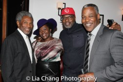 André De Shields, Heather Alicia Simms, Evan Parke and Danny Johnson at the opening night celebration at Atelier Florian. Photo by Lia Chang