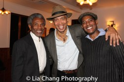 André De Shields, Timothy Douglas and Billy Eugene Jones at the opening night celebration at Atelier Florian. Photo by Lia Chang