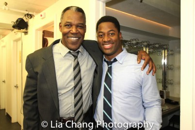 Danny Johnson and Wayne T. Carr backstage at Yale Rep. Photo by Lia Chang