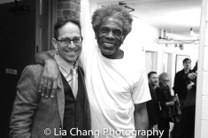 Garth Kravits and André De Shields backstage at Yale Rep. Photo by Lia Chang