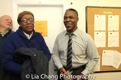 George Faison and Danny Johnson backstage at Yale Rep. Photo by Lia Chang