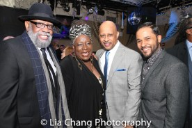 Bill Sims Jr., Ebony Jo-Ann, Ruben Santiago-Hudson and Jason Dirden. Photo by Lia Chang