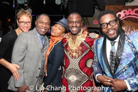 A guest, Michael Potts, Sonja Sohn, Gbenga Akinnagbe and Chad L Coleman. Photo by LIa Chang
