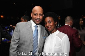 Ruben Santiago-Hudson and Joniece Abbott-Pratt. Photo by Lia Chang