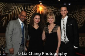 Ruben Santiago-Hudson with his daughter Lily, his wife Jeannie Brittan and his son Trey. Photo by Lia Chang