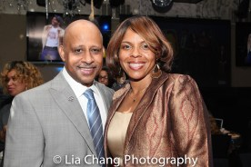 Ruben Santiago Hudson and Sakina Ansari Wilson. Photo by Lia Chang