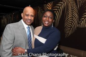 Ruben Santiago-Hudson and Felicia Henderson, writer and show runner of The Quad. Photo by Lia Chang