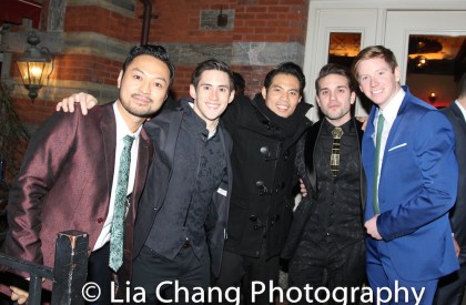 Billy Bustamante, Warren Yang, Jason Sermonia, Dan Horn and _______. Photo by Lia Chang