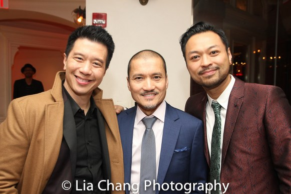 Reggie Lee, Jon Jon Briones and Billy Bustamante. Photo by Lia Chang
