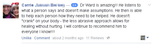 Review of Dr. Zachary Ward - Life In Alignment Chiropractic