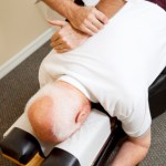 Diversified chiropractic adjustment in mid back