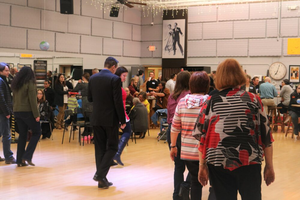 Line Dancing at 8th Anniversary Celebration at Life In Alignment Chiropractic