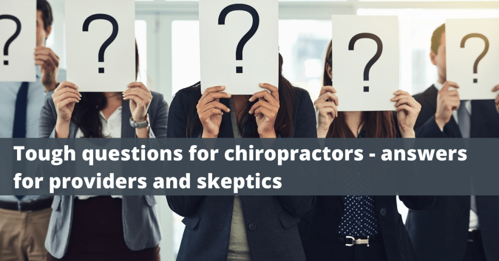 Questions for chiropractors