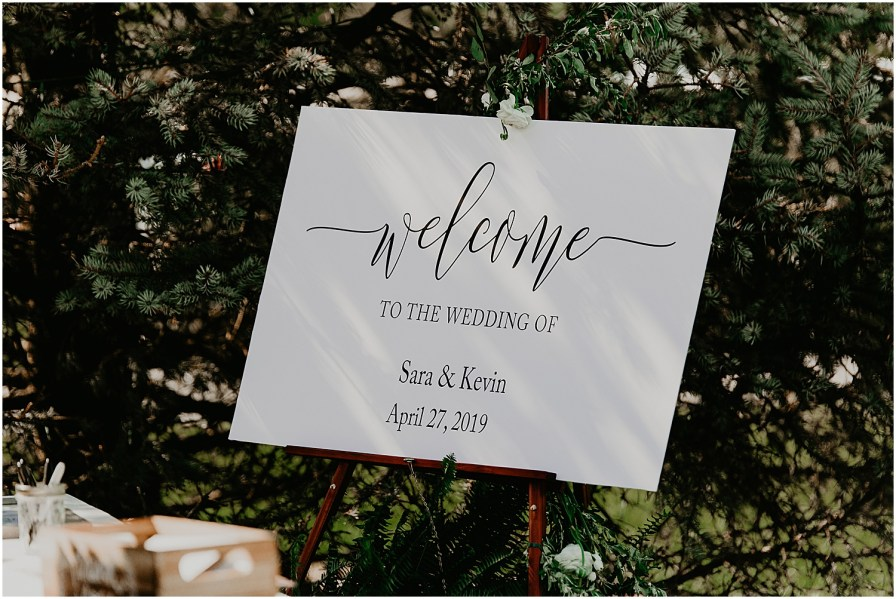 Private Estate Wedding in Virginia Wedding Photographer wedding ceremony sign