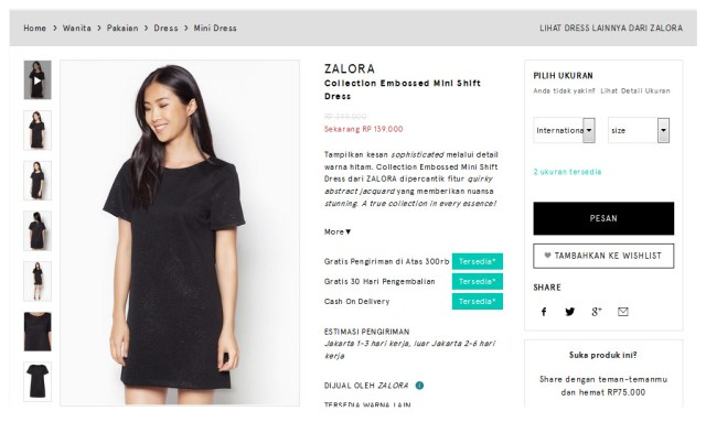 zalora-shift-dress-black