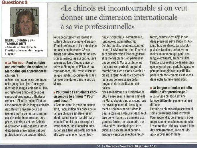 Le Chinois est incountournable si on veut donner une dimension internationale à sa vie professionnelle