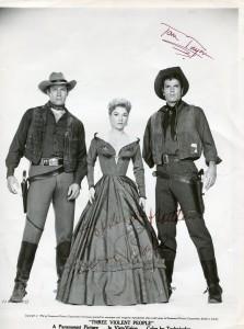 Charlton Heston, Anne Baxter & Tom Tryon
