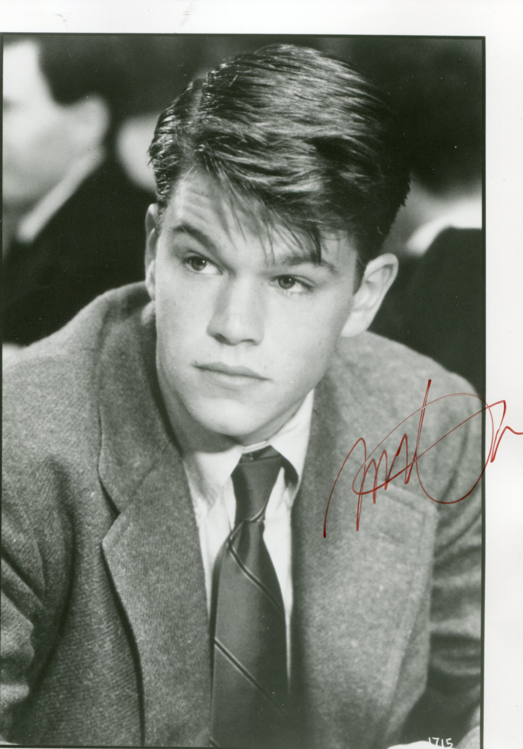 matt damon archives movies autographed portraits through the decadesmovies autographed. Black Bedroom Furniture Sets. Home Design Ideas