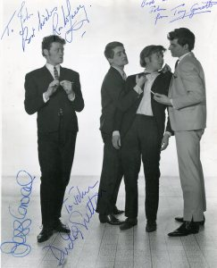 Dudley Sutton, Tony Garnett, Ronald Lacey and Jess Conrad