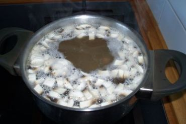 Crema de champiñones