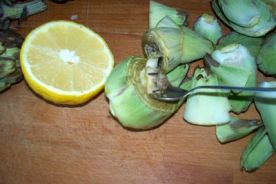 como cocinar alcachofas con marisco