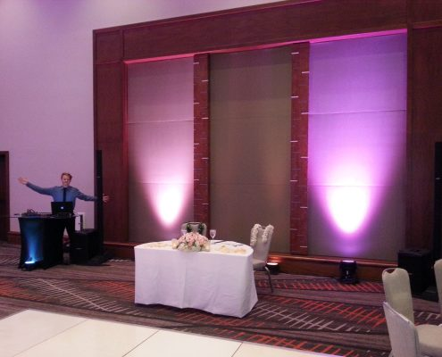 Maui DJ Lighting for weddings and events