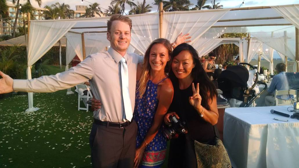 DJ Liam Grist, Samantha, and Anna Kim