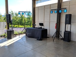 Wedding Dj setup in Oregon