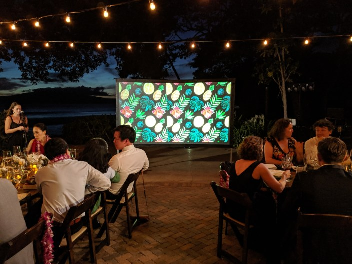 Wedding Video Projection at Olowalu