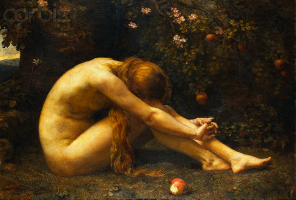 1885 --- Eve in the Garden of Eden by Anna Lea Merritt --- Image by © Fine Art Photographic Library/Corbis