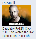 New Daughtry Ad