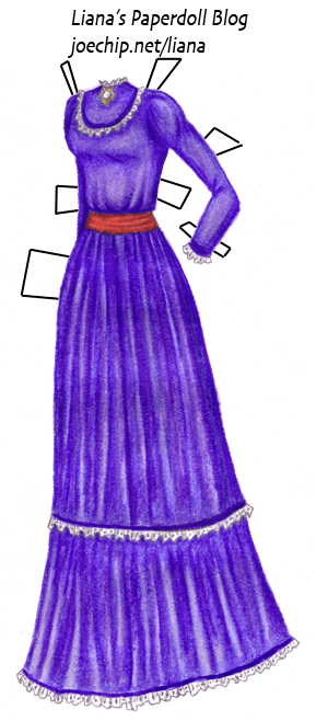 Cloud Strifes Purple Dress From Final Fantasy VII Liana