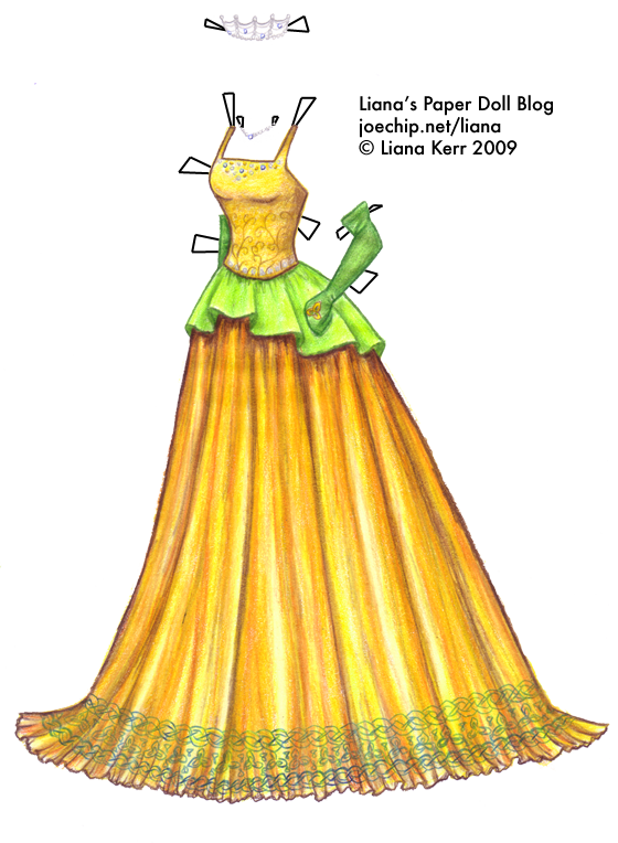 Wiki Dress 2 Gold Harvest Gown With Green Peplum And