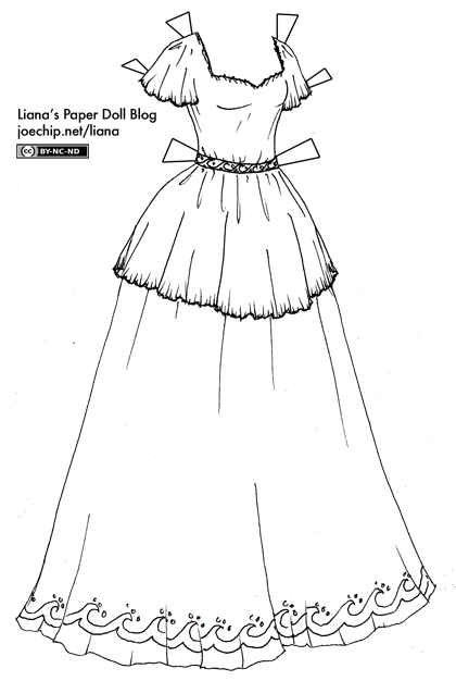 Dresses Coloring Pages Color