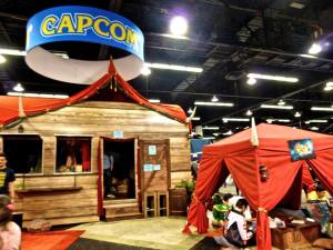 Capcom booth at WonderCon 2015