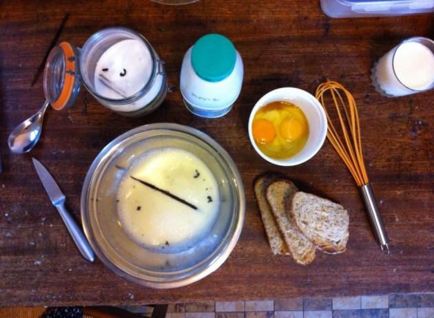 法式土司麵包食材