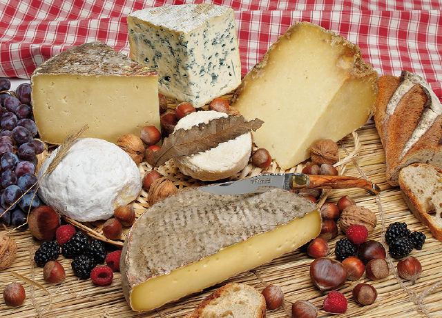 種類繁多各種不同口味的乳酪