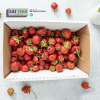 strawberries in a box with Eat This Podcast logo