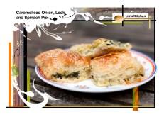 Caramelised onion pie