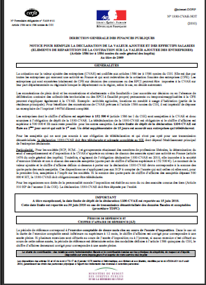 notice cvae 1330 CVAE  et le plafonnement CET  2013 ( Notice CVAE )