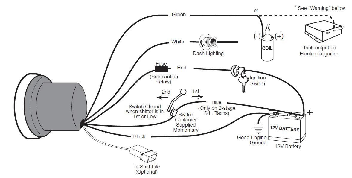 wiring diagrams automotive gauges powerking co rh powerking co Auto Meter Speedometer Wiring Diagram Auto Gauge Tachometer Wiring Diagram with MSD