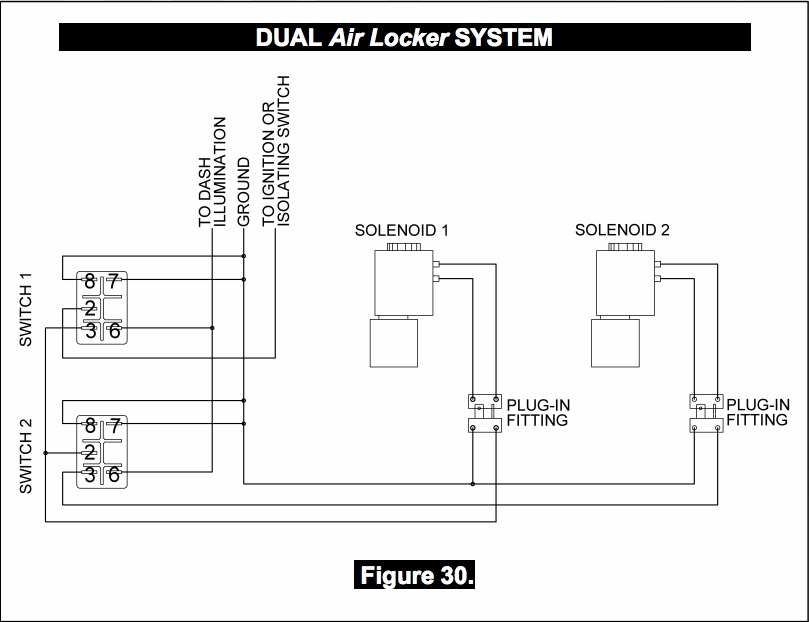 87 17 jeep wrangler YJ TJ JK ARB airlocker differential dana 30 27 spline 033 arb locker wiring diagram diagram wiring diagrams for diy car arb reversing camera wiring diagram at nearapp.co