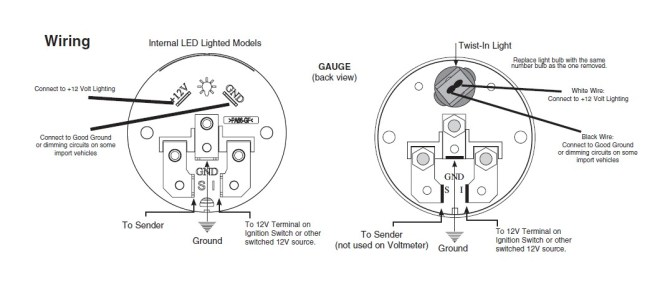 auto meter water temp gauge wiring diagram  murray fuse box