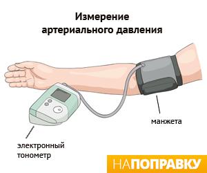 Измеренение давления электронным тонометром