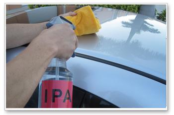Dispense a few drops onto a clean applicator pad.