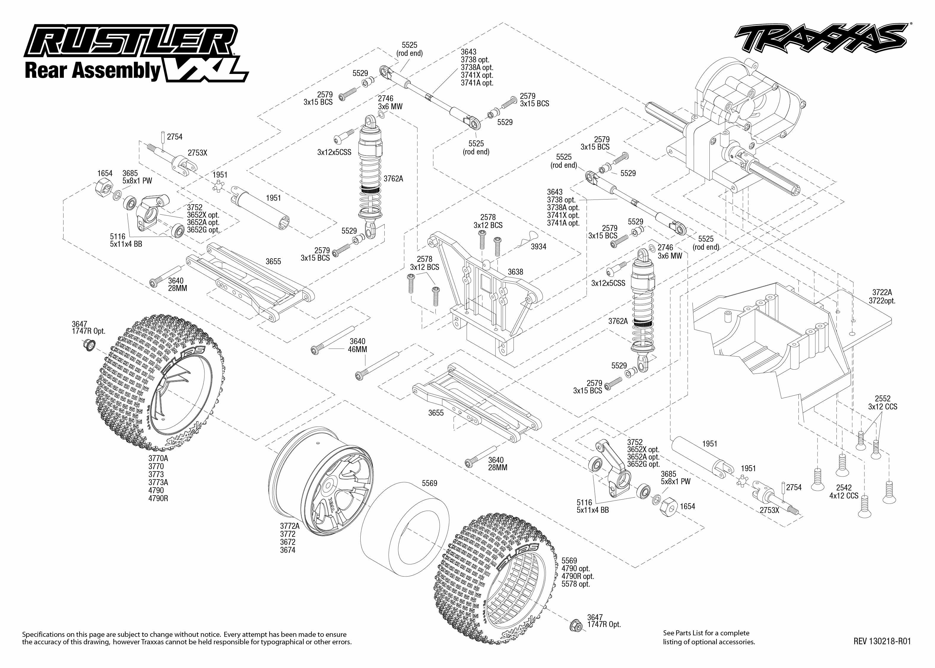 Traxxas 1 10 Scale Rustler Vxl 2wd Brushless Stadium Truck