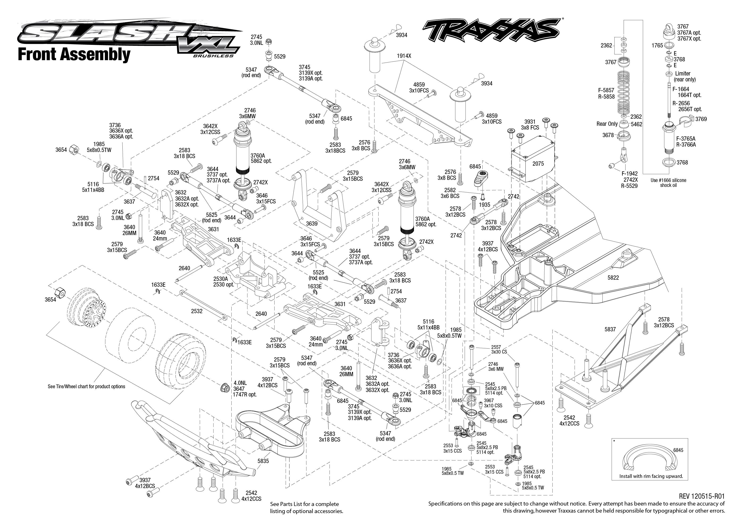 Traxxas Slash 2wd Parts Diagram